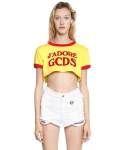 Gcds | Jadore Cropped Jersey T-Shirt