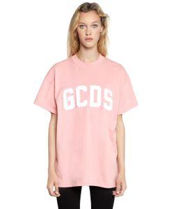 Gcds | Oversize Logo Cotton Jersey T-Shirt