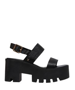 WINDSOR SMITH | 80mm Buffy Leather Platform Sandals