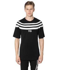 Y-3 | Футболка Из Хлопкового Джерси С 3 Полосками