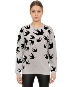 Mcq Alexander Mcqueen | Swallow Flocked Cotton Sweatshirt