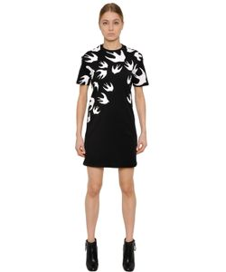 Mcq Alexander Mcqueen | Swallow Printed Cotton T-Shirt Dress