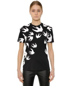 Mcq Alexander Mcqueen | Swallow Printed Cotton T-Shirt