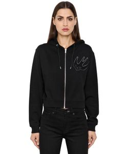 Mcq Alexander Mcqueen | Varsity Zip-Up Hooded Cotton Sweatshirt