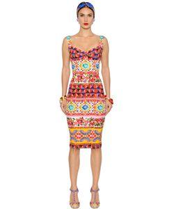 Dolce & Gabbana | Платье Из Стретч Шармез