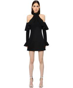 Elie Saab | Платье Из Двойного Крепа С Оборками