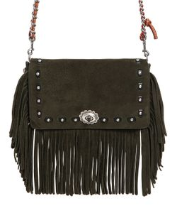 COACH 1941 | Dinky Fringed Suede Chain Shoulder Bag