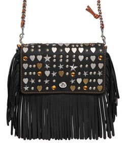 COACH 1941 | Dinky Fringed Leather Chain Shoulder Bag