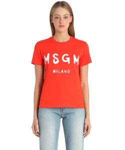 MSGM | Футболка Из Хлопкового Джерси С Логотипом