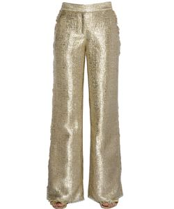 Gianluca Capannolo | Fringed Flared Lurex Tweed Pants