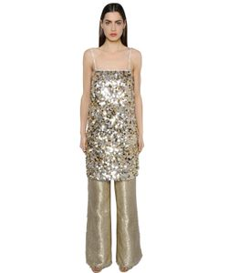 Gianluca Capannolo | Sequined Crepe Tunic Dress