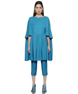 Gianluca Capannolo | Flared Viscose Tunic Dress