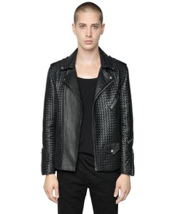 ROUTE DES GARDEN | Woven Nappa Leather Jacket