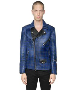 ROUTE DES GARDEN | Bicolor Woven Nappa Leather Jacket