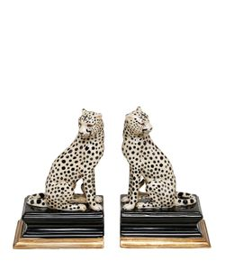 House Of Hackney | Cheetah Porcelain Bookends