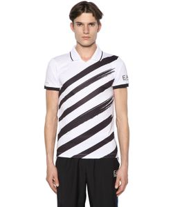 EA7 | Printed Logo Nylon Tennis T-Shirt