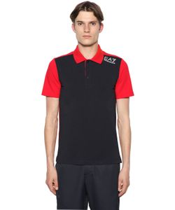 EA7 | Cotton Jersey Golf Polo Shirt