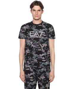 EA7 | Camouflage Printed Cotton T-Shirt