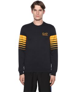 EA7 EMPORIO ARMANI | Logo Stretch Cotton Sweatshirt
