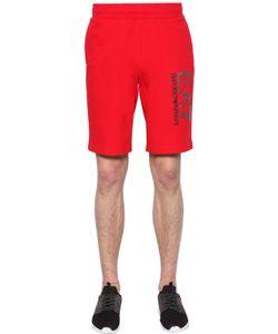 EA7 EMPORIO ARMANI   Logo Cotton Shorts