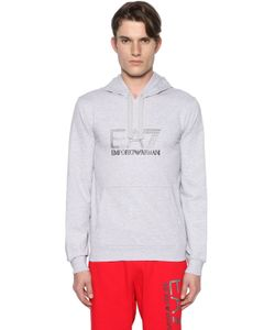 EA7 EMPORIO ARMANI | Logo Hooded Cotton Sweatshirt