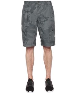 EA7 | Camouflage Printed Cotton Cargo Shorts