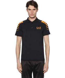 EA7 | Cotton Jersey Polo Shirt