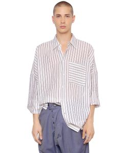 Vivienne Westwood | Striped Cotton Linen Canvas Shirt