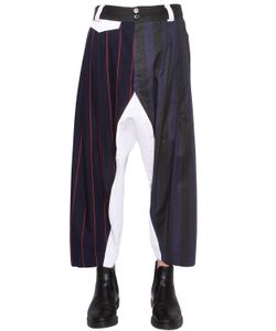 Vivienne Westwood | Patchwork Wool Cotton Pants
