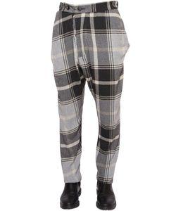 Vivienne Westwood | Plaid Asymmetric Viscose Woven Pants