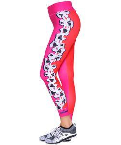 Adidas By Stella  Mccartney   Yoga Flower Microfiber Leggings
