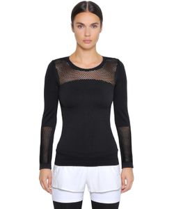 Adidas By Stella  Mccartney | Performance Seamless Climalite Mesh Top