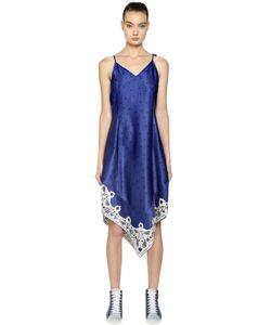 Steve J & Yoni P | Scarf Detail Satin Slip Dress