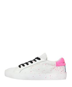 Crime | 20mm Paint Splatter Leather Sneakers