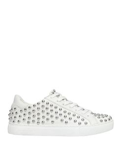 Crime | 20mm Studded Leather Sneakers