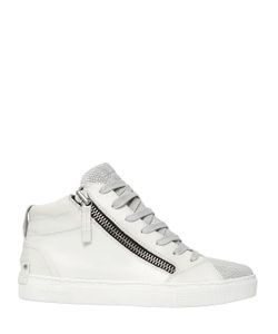 Crime | 20mm Zipped Leather High Top Sneakers