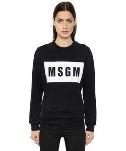 MSGM | Logo Printed Cotton Jersey Sweatshirt