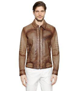 ETTORE BUGATTI COLLECTION | Куртка Из Кожи Наппа И Кожи Аллигатора