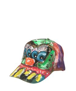 PATRICIA FIELD ART FASHION   Scooter Laforge Hand-Painted Hat