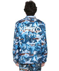 Kenzo | Куртка-Бомбер Из Нейлона С Принтом Tropical Ice