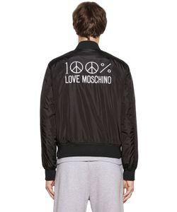 Love Moschino | Нейлоновая Куртка-Бомбер С Вышивкой