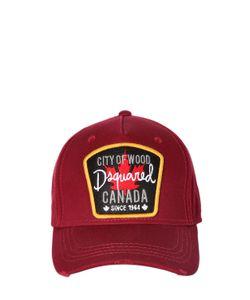 Dsquared2 | Бейсбольная Кепка Из Канвас С Аппликацией Canada