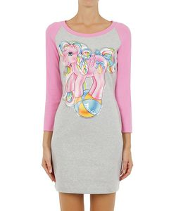 Moschino | Little Pony Print Two Tone Jersey Dress