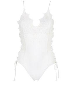 Ermanno scervino lingerie | Macramé Lace Lycra One Piece Swimsuit