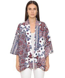 BLACK CORAL | Paisley Printed Crepe Kimono