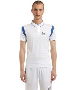 EA7 EMPORIO ARMANI | Теннисная Рубашка-Поло Из Нейлона С Логотипом
