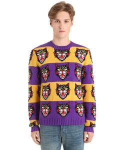 Gucci | Свитер Из Шерстяного Жаккард-Трикотажа