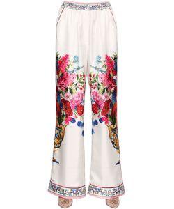 Dolce & Gabbana | Брюки Из Шёлковой Саржи С Принтом Bouquet