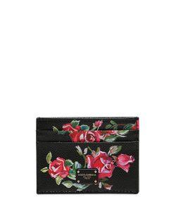 Dolce & Gabbana | Кожаная Кредитница С Цветочным Принтом