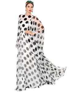 Dolce & Gabbana | Платье Из Шёлкового Шифона С Принтом В Горошек